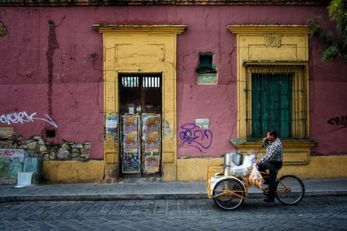Tamales seller. Photo by jody miller.